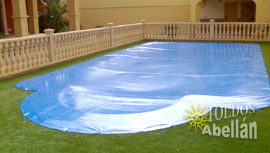 Swimming pool canvas in a house